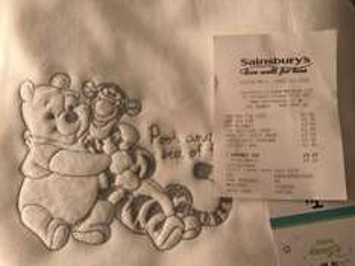 Winnie the Pooh Baby Blanket £2.50 instore @ Sainsbury's