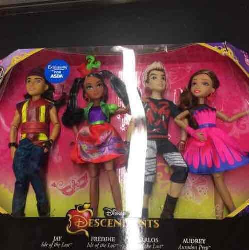 Disney descendants 4 pack of dolls for £10 @ Asda in store