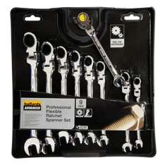 9 Piece Flex Head Ratchet Spanner Set with lifetime warranty - 50% off £40 @ Halfords