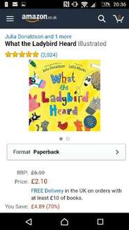 What the Ladybird Heard book £2.10 Amazon (free delivery if spending £10 on books)