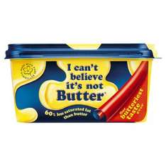 2 tubs of 'i can't believe it's not butter' 400g plus 25% free = 500g tubs 2 for  £1 @ heron foods