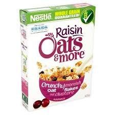 Nestle Oats & More Raisins 425g for 63p in sainsburys colchester town