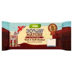 Asda instore - 30% less fat mature cheese 800g reduced to £1.92 (from £3.84) end of line & national