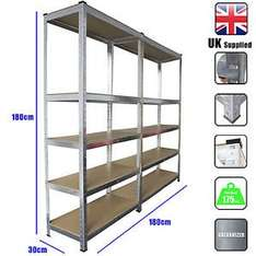 Extra large 1.8M X 1.8M METAL SHELVING BEST PRICE £39.99 delivered fast and free @ebay - busters-2009