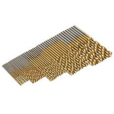 50 piece Titanium Coated Twist Drill Bit Set (Various Sizes)  High Speed Steel suitable for wood, plastic and aluminum...... £1.95 delivered at AliExpress