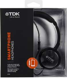 TDK ST170 Stereo Over-Ear Headphones with In-Line Microphone - Black (Prime £7.49 / Non-Prime £11.48) Sold by Trusted-Goods and Fulfilled by Amazon
