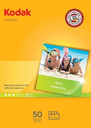 Kodak Photo Glossy A4 180 GSM Paper - 50 Sheet Pack £4.25 Prime / £9 Non Prime @ Amazon