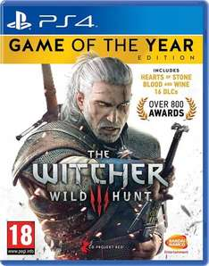 The Witcher 3: Wild Hunt – Game of the Year Edition £21.49 with PS PLUS