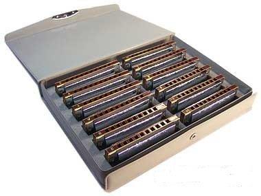 Suzuki 1072S 12 Piece Set of Folkmaster Harmonica Silver - £15.53 (Prime / £20.28 non Prime) @ Amazon **MISPRICE?** (Temporarily out of stock)