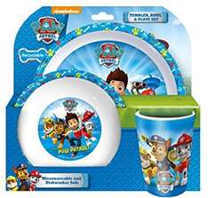 Paw Patrol tumbler, bowl and plate set @ Morrisons for £1.25 instore