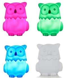 Colour Changing Owl Night Light  now £2.50 @ Asda George