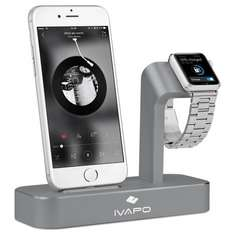 iVAPO 2 in 1 Apple Watch Stand and iPhone Charging Station £19.99 Prime / £23.98 Non Prime @ Sold by LOPOO UK and Fulfilled by Amazon