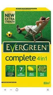 Evergreen ® Complete 4 In 1 Lawn Feed, Weed & Moss Killer 2.8kg £3 @ B&Q