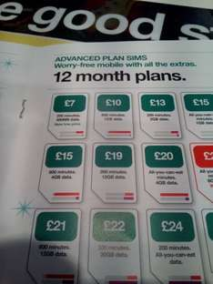3 mobile instore retention offer 12GB Data / 200mins 12months @ £12 per month (144)