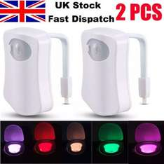 Pack of 2 led sensor colour changing toilet night lights £8.70 delivered @ ebay peterspace15