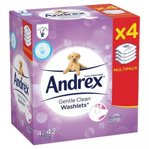 Tesco: In Store:  Andrex Washlets Gentle Clean 4 Pk £1.50