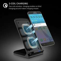 Fast Wireless Wireless Charging Stand for Samsung Galaxy S7/S7 Edge, Galaxy S6/S6 Edge/Plus, Nexus 7/6, All Qi-enabled Devices, QC 2.0 Wireless Charger - £14.26 (£18.25 non-Prime)  Sold by LivSense UK and Fulfilled by Amazon