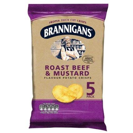 Brannigans (Mccoy's) - Roast Beef & Mustard (5) 99p (10) £1.50 @ B&M