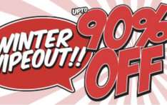 90% off sale winter wipeout starts from £1.50 @ Saltrock + £3.95 delivery