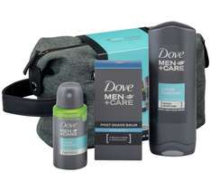 Dove Men Plus Care Washbag with 100ml post shave balm, 150ml body and face wash & 75ml compressed deodrant was £9.99 now £4.79 @ Argos