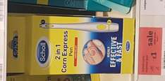 Scholl 2 in 1 corn express pen was £10.00 now £1.00 sainsburys instore