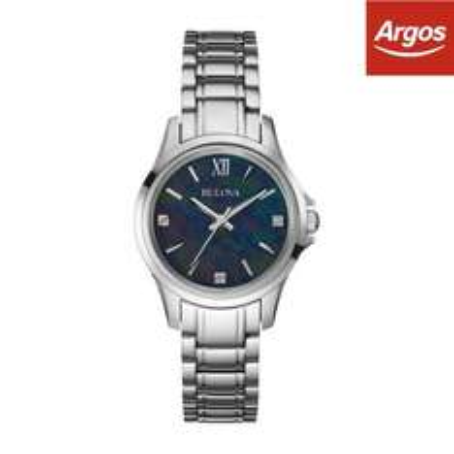 Bulova Ladies' Diamond Mother of Pearl Dial Bracelet Watch  £26.99  Argos on eBay