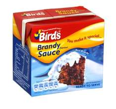 Bird's Ready to Serve Rum & Brandy Sauce 500g cartons for 9p in Peckham Morrisons