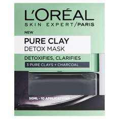 Dermo Expertise Pure Clay Detox Mask - 50 ml, Black - £5.29 prime / £9.28 non prime @ Amazon