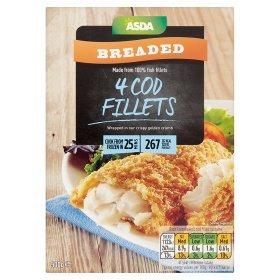 ASDA 4 Breaded 52% Cod Fillets 500g ONLY £2.00 @ Asda