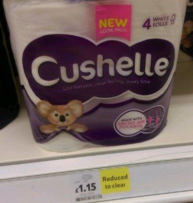 cushelle 4 white rolls £1.15 at Tesco