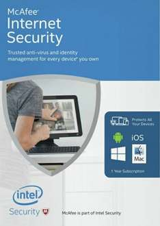 McAfee Internet Security Unlimited users £3.99 @ Argos
