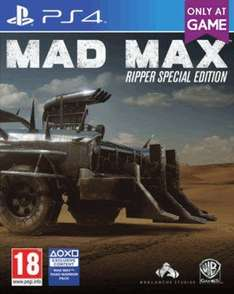 Mad Max Ripper Special Edition PS4 (New) £11.99 online at GAME.