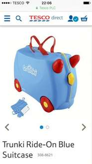 TRUNKI Blue Suitcase £22.50 at Tesco