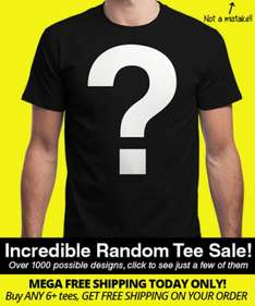 Insanitee on Qwertee (£4 tees + £2.50 shipping or 6+ tees and free shipping)