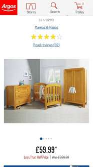 Mama's and Papa's 3 piece furniture set £59.99 plus £6.95 delivery @ Argos