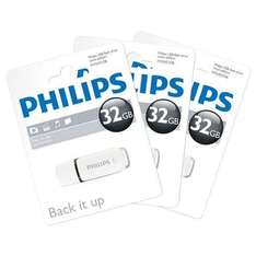 *EXPIRED* 3 x 32GB USB 2.0 Flash Drives (96GB) - Philips Snow Series - £17.09 Delivered @ 7DayShop