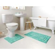 Tufted Bath Mat & Pedestal Set 2pc £2.49 @ B&M Instore deal.