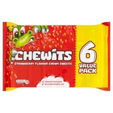 Chewits sweets 6pk was £1.00 now 10p at Poundstretcher