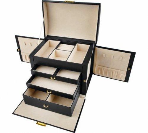 Large Three Drawer Black Jewellery Box - £17.49 @ Argos (Free C&C)