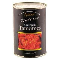 Amore Italiano Tinned Chopped and Italian Plum Tomatoes 400g 25p @ Poundstretcher