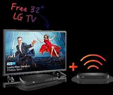 """Free LG TV 32""""or £100 Voucher on any Sky TV Bundle - £396 Contract cost"""