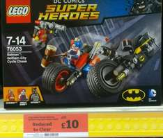 LEGO Super Heroes 76053: Batman Gotham City Cycle Chase £10.00 Sainsbury's (in store)