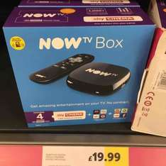 NOW TV Box with 4 Month Cinema Pass and NOW TV Box with 6 Month Entertainment Pass £19.99 @ Tesco instore