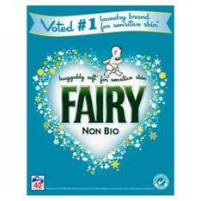 Fairy Non-Bio Washing Powder 40 Washes, was £11.00 now £5.50  (2.6kg) at Waitrose