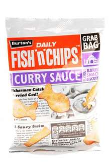 Fish and Chips Curry Crisps - Heron - £1