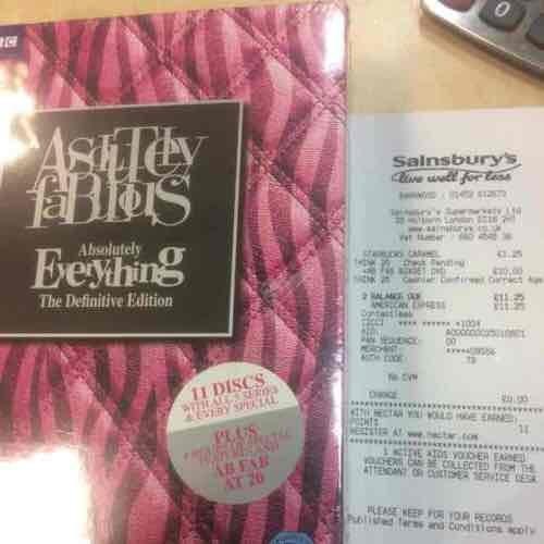 Absolutely Fabulous Definitive Boxset instore at Sainsburys - £10