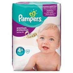 Pampers Active Fit Dry Max 4+  (22nos) £2.60 @ lloyds pharmacy - Free c&c