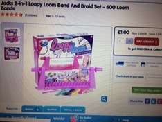 Jacks 2-in-1 Loopy Loom Band And Braid Set - 600 Loom Bands Reduced to £1.00 from £15 @ The Entertainer