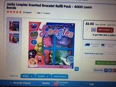Jacks Loopies Scented Bracelet Refill Pack - 4000 Loom Bands in The toy shop reeduced from £13 to £2
