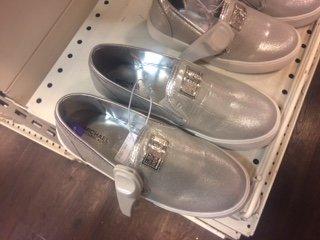 Michael Kors  girls Silver Kids Slip On Sneaker Trainers £19.99 in TK Maxx - Merry Hill Dudley DY51QX